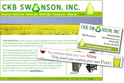 environmental company web site design company, marketing and advertising for green company